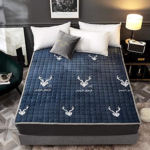 WJMLS Japonés Engrosada, Colchones De Futón Plegables Portátiles Colchón Colchon futon Dormir Mat Respirable Tatami para Piso Colchón para Dormitorio Dormitorio (Color : B, Size : 90cm*200cm)