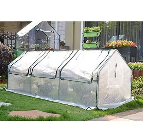 ZWWS-YJ Invernadero PE de Invernadero y Estructura metálica de Metal - Blanco (tamaño: 270 * 88 * 90 cm)