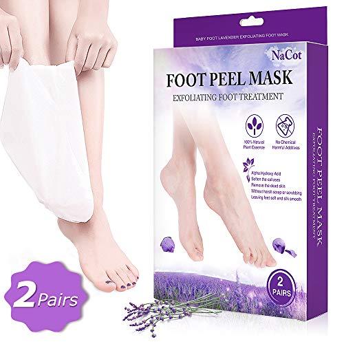 2 Paar Fußmaske Hornhaut Entfernung Lavendel Fussmaske Hornhautentfernung Fußmaske Socken Baby Foot Beauty Fuß Peeling Maske