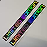2x Limited Edition Hologramm Oilslick Rainbow Flip Flop Schwarz Aufkleber Metallic Effekt Shocker Hand Auto JDM Tuning OEM Dub Decal Stickerbomb Bombing Sticker Illest Dapper Fun Oldschool
