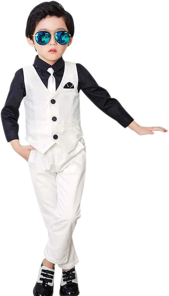 XFentech Boys Waistcoat Suit - Page White Suits 3 Super special price Boy Time sale