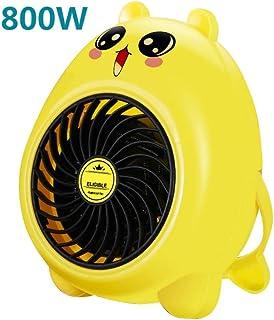 GYF Calefactor eléctrico Calefactor Eléctrico 800W Uso del Estudiante Calentador Baja Potencia Mini Tipo Ventilador Eléctrico Calentamiento Rápido Cinturón Portátil Amarillo (Color : Yellow)