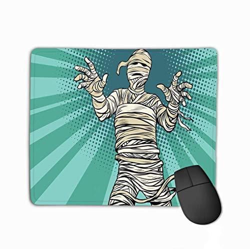 Muis Pad, Muis Pad Vintage Egyptische Mummy Horror Film Halloween pop Art Retro Fantasy