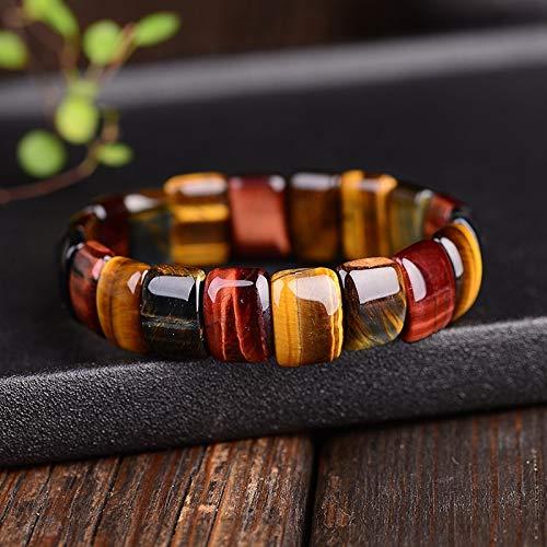 QWERTYU Boeycjr Kleurrijke Tiger Eyes Natuursteen Kralen Armbanden Handgemaakte Sieraden Energie Armband Voor Vrouwen Of Mannen LIFUQIANGME
