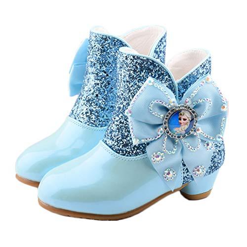YOSICIL Zapatos de la Princesa Botas de Nieve con Forro de Media Pantorrilla Botas de Felpa Antideslizantes Disfraz para Carnaval Halloween Regalo de Reyes