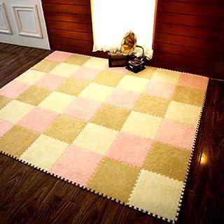 Suede Splice Door Mats Outdoor Floor Mats Fur Hair Foam Pad Square Baby Crawling Area Mats Kitchen Mat 30cmX30cm Kitchen Carpet