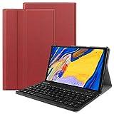 VOVIPO Étui pour clavier Lenovo Tab M10 Plus (Disposition britannique), Slim PU avec clavier amovible sans fil pour Lenovo Tab M10 Plus TB-X606F
