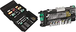 Wera Kraftform Kompakt SH 1 Plumbkit, 25pc, 05135927001 & Tool-Check Plus Mini Bit Ratchet, Socket, Screwdriver & Bit Set,...