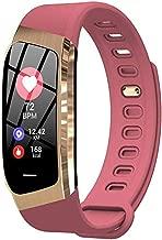 Smart Watch Sports Bracelet Tracker Color Touch Screen Ip67 Waterproof Blood Pressure Oxygen Heart Rate Monitor,Pink