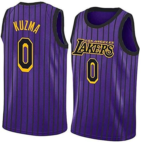 Kyle Kuzma Jerseys, NBA Los Angeles Jerseys # 0 Lakers Baloncesto Swingman Edition Malla Jersey Sport Chaleco Top Camiseta sin Mangas, Absorbiendo de Sudor, Fan Jersey Training Ropa