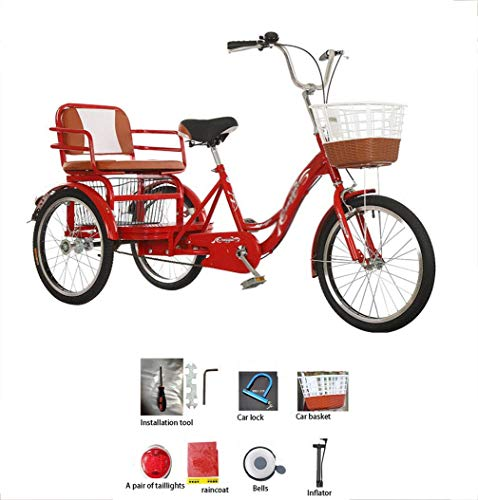 Tricycle adult 3-wheel bicycle manpower old pedal 20-inch...