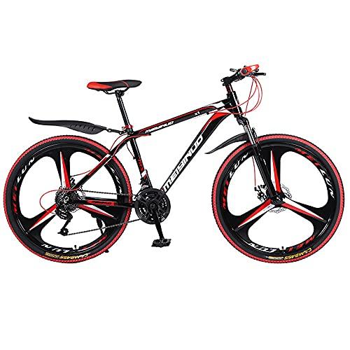 Bicicleta de montaña 26 pulgadas doble freno de mariposa bicicleta de velocidad variable marco de aleación de aluminio estudiante adulto bicicleta de campo traviesa bicicleta de 27 velocidades
