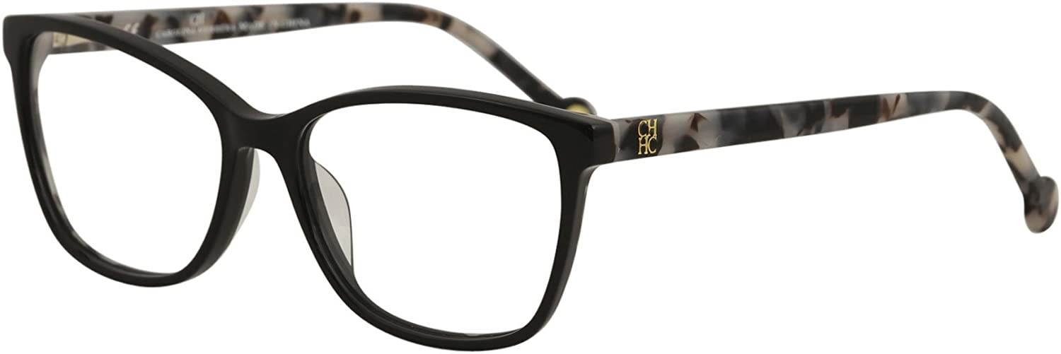 Carolina Herrera Designer Eyeglasses VHE717K700Y in Black 54mm DEMO LENS