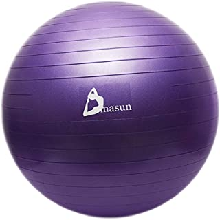Yoga Ball Thickened Explosion-Proof Beginners Pregnant Women Slimming Available Sports Fitness Weight Loss Yoga Ball (Color : D, Size : 65CM)