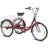 Goplus Adult Tricycle Trike Cruise Bike Three-Wheeled Bicycle with...