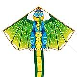 Cometas Flying Dragon Kite para niños Niños Niñas Adultos Principiantes The Beach Park Juegos al Aire Libre Fácil de Volar