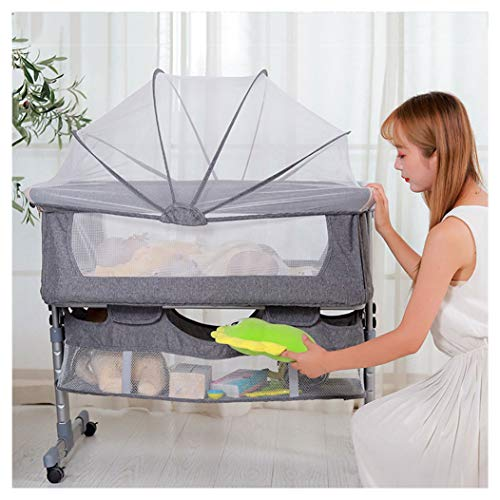 Review Travel Cot for Baby, Baby Crib Playpen with Breathable Mesh Window Folding Mattress Carry Bag...