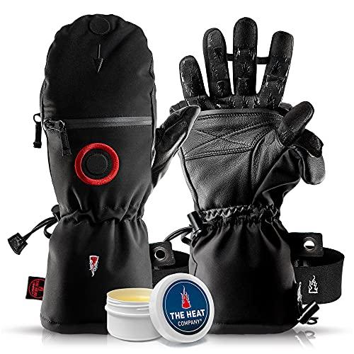 THE HEAT COMPANY - Heat 3 SMART PRO – Die Handschuh Innovation aus den Alpen – Fingerhandschuhe und Fäustling in Einem - No.1 Fotohandschuhe, Outdoor, Skifahren - Schwarz, Größe 11, Herren, XL