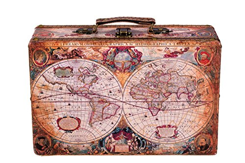 Sarah B Truhe Kiste KD 1288 Koffer, Kofferset, Holztruhe mit edlem Leder bezogen Größe L 31cm
