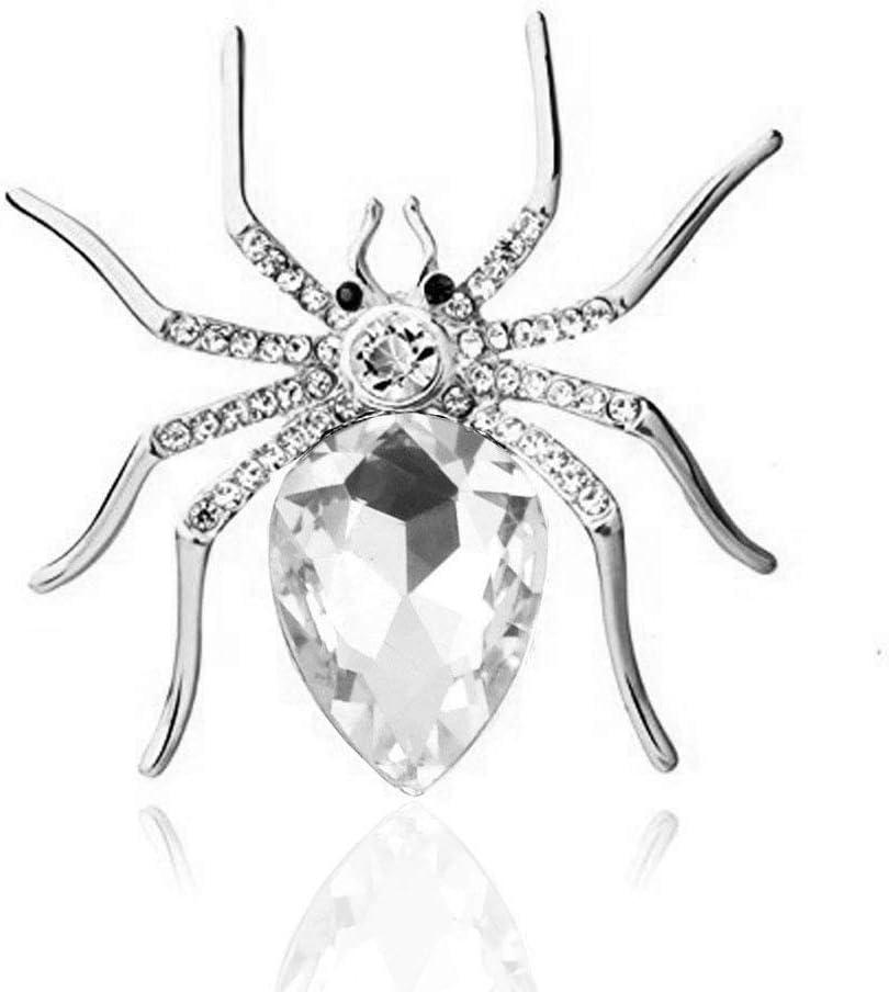 Reizteko Crystal Rhinestone Spider Fashion Creative W 2021 High quality new Brooch Pin