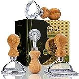 bambuswald© Cortador de raviolis (4 unidades) con mango de bambú | Sello cortador de galletas para empanadillas Pasta Gyoza Pierogi | Cortador de raviolis cortador de galletas
