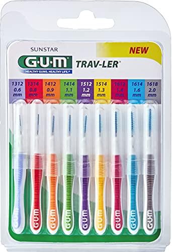 Gum Travler Kit Scovolini, 9 Pezzi - 80 ml