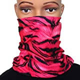 Pink Zebra Motorcycle Face Mask for Women Bikers - Multifunction Seamless Tube Bandana Half Face Shield for Riding ATV Cycling Hiking Camping Fishing Running Dust Protection, Festival Headbands