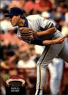 1992 Stadium Club Baseball Rookie Card #615 Doug Henry