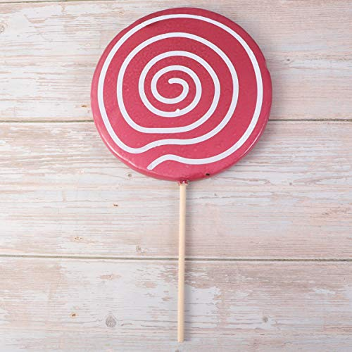 Amosfun Lollipop Prop Grandes Adornos de Caramelo Púrpura Comida Falsa Festiva Accesorios de Foto Carnaval Cosplay Boda Cumpleaños Juguete Fiesta Suministros