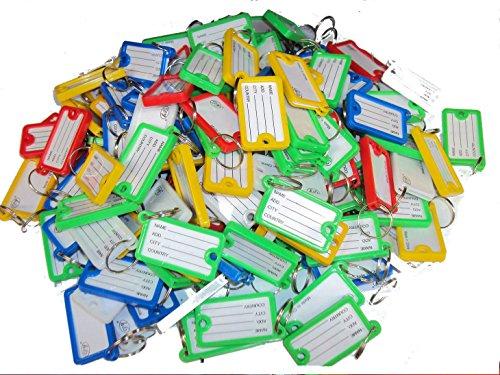 ck collection ltd Plastique Assorties Porte-clés Plastique coloré ID Tags Nom étiquette FOB Big, 10 pièces