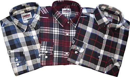 Canada Forest Herren 3er Set Holzfäller Arbeitshemden Extra Lang 70010-6 XXL 45/46