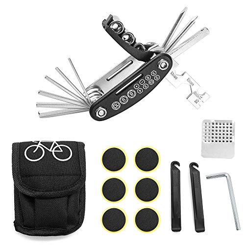 YapitHome Kit de reparación de Bicicleta 16 en 1 Herramienta de Bicicleta...