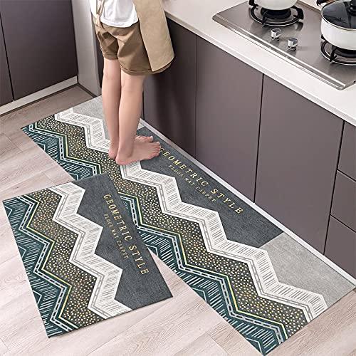 HLXX Alfombrilla para Suelo de Cocina, patrón de vajilla, Felpudo de Entrada, Felpudo para Puerta de baño, salón, Antideslizante, antifouling, alfombras largas A6 40x120cm