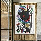 Carteles e impresiones de arte de pared de acuarela vintage Pintura de lienzo famosa Sala de estar Decoración del hogar 30x40cm
