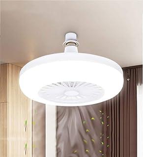 RUIXINBC Lámpara De Techo LED Ventilador con Luz, Creativo Hogar Moderno E27 Ventilador Cabeza De La Lámpara De La Lámpara De La Lámpara del Ventilador 28Cm