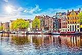 Amsterdam City Kanal Art Design XXL Wandbild Kunstdruck