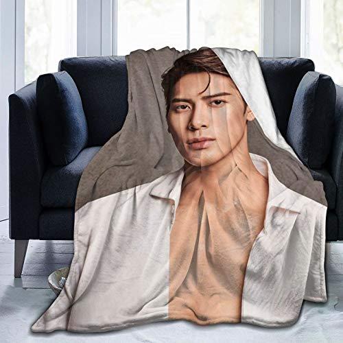 Graslio Jackson Wang Blanket Super Soft Blanket Flannel Blanket Air Conditioning Blanket Student Blanket Soft Thermal Printing Blanket Children/Adult Blanket50x40Inch