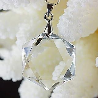LuLuHouse 水晶 ペンダント 六芒星 crystal Pendant ネックレス 天然石 パワーストーン