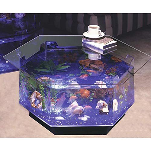 Long Octagon Aqua Coffee Table Aquarium