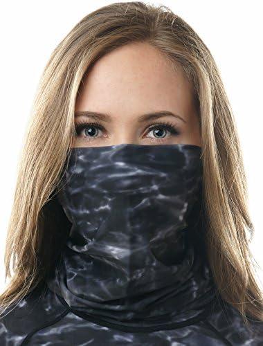 Aqua Design Face Mask for Women UPF 50 Motorcycle Ski Cover Balaclava Gaiter Black Water Size product image