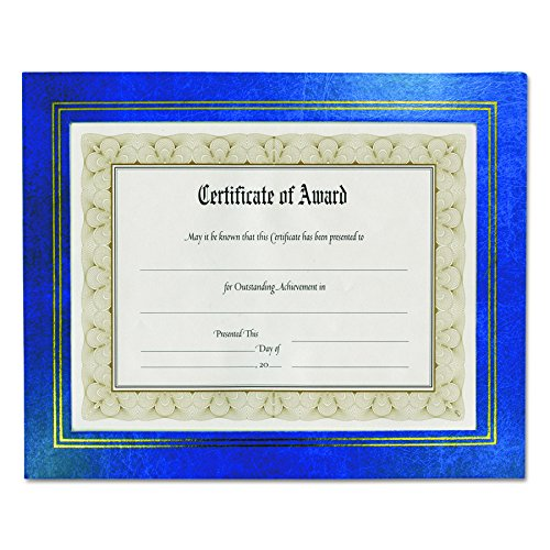 GLOLITE NUDELL LLC 8.5 x 11 Inches Leather Grain Certificate Frame Two Pack, Blue