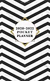 2020-2022 Pocket Planner: Trendy 3 Year Inspirational Monthly Pocket Organizer, Calendar & Schedule Agenda with Notes, Password Log & Phone Book - Amazing Black & White Marble Chevron Pattern