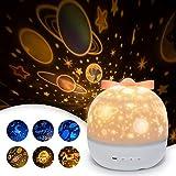 *SUVOM Llum Projector Infantil, 6 Maneres Il·luminació Projector Dormitori amb Rotació 360 Graus d'Estrelles i Cosmos, Llum de Nocturna per a Nens i Bebès, Aniversaris, Vacances, Nadal, Halloween
