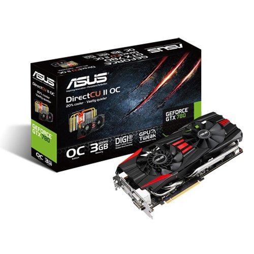 Asus NVIDIA GeForce GTX 780 Grafikkarte (PCI-e, 3GB GDDR5 Speicher, DVI, HDMI, DisplayPort, 1 GPU)