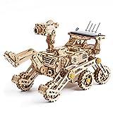 Robotime Solar Powered Stem Toys - Laser Cutting Robot DIY Kits de Modelo de Coche - Rompecabezas de Madera 3D Age 14 3D Puzzles Adult (Curiosity Rover)