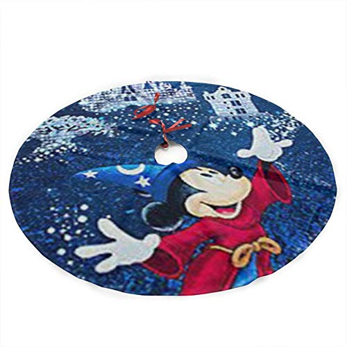 HACVREQ Personalized Custom Christmas Tree Skirt Mickey Mouse Christmas Tree Skirt Holiday Decorations 36in