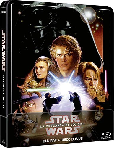 Star Wars Ep III: La venganza de los Sith (Edición remasterizada) - Steelbook 2 discos (Película + Extras) [Blu-ray]