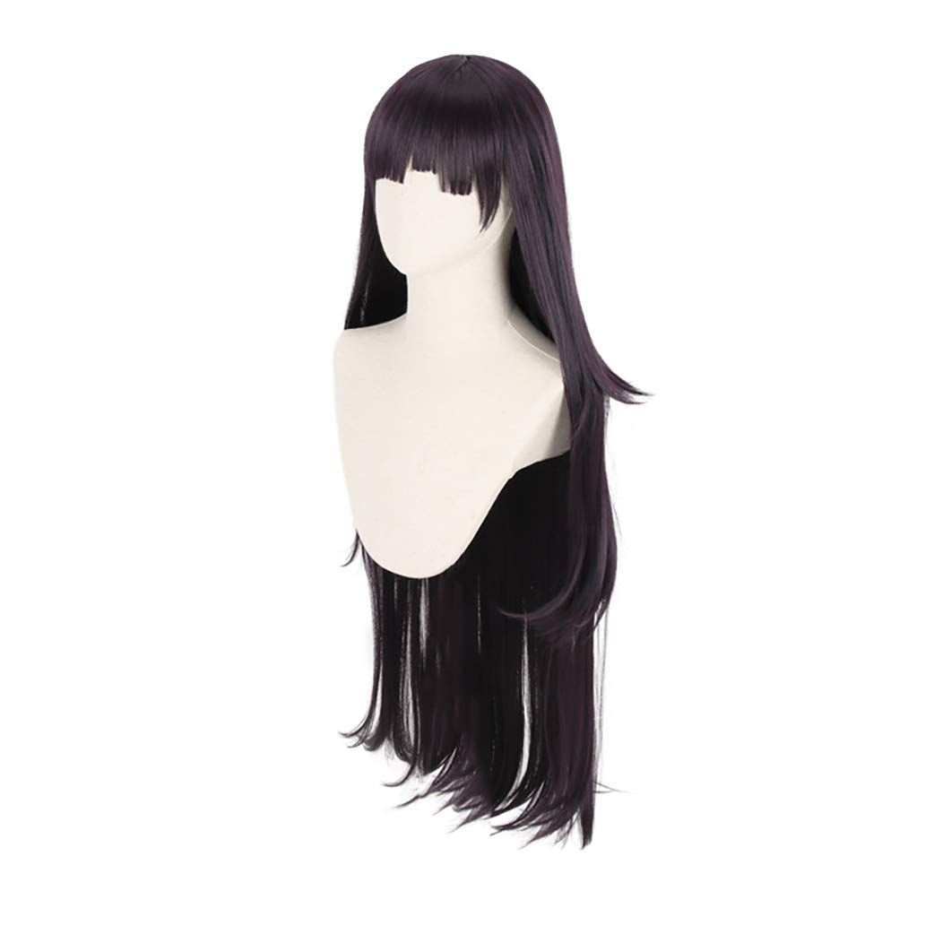 IMEYLE Wig(1 Headpiece)Black Cosplay Party Wig With 2 Ponytails For Cosplayers Long Curly Wig With Bangs Synthetic Wig For Movie