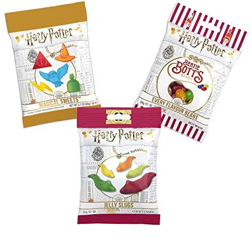 Jelly Belly Harry Potter Set | Bertie Bott´s Beans, 54g | Magical Sweets, 59g | Jelly Slugs, 56g