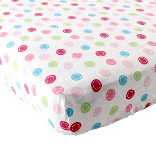 Amazing Deal Luvable Friends Unisex Baby Fitted Playard Sheet, Pink Geometric, One Size